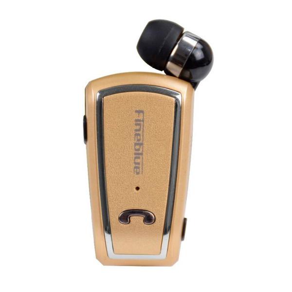 Einziehbarer Fineblue Mini Wireless-Treiber Stereo-Bluetooth-Headset-Clip mit laufendem Kopfhörer für Smartphones in Verkaufsverpackung