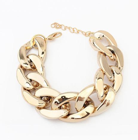 Bracelet Bangle for Women Fashion Jewelry 925 Sliver Gold Plated on Alloy Plastic Bracelet Accessory Charm Bracelets