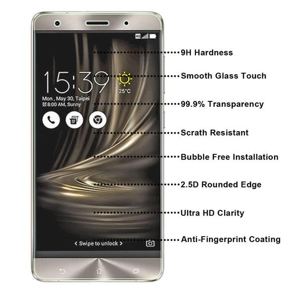 For ASUS ZenFone 3 PELOXE/ZS570KL Tempered Glass Screen Protectors Anti-Bubble Anti-Scratch Anti-Fingerprint Film For iPhone X XS XR XS