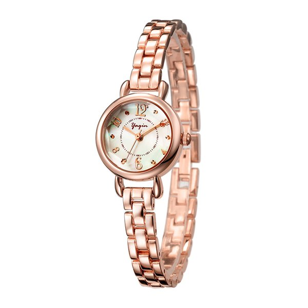 2018 woman quartz watch business casual fashion rose gold and silver strip waterproof watch