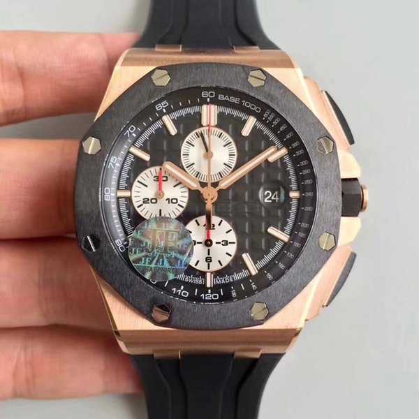 men watch jf 26400 high quality best version in stock wholesale price mixed titanium and carbon fiber case and bezel top art work
