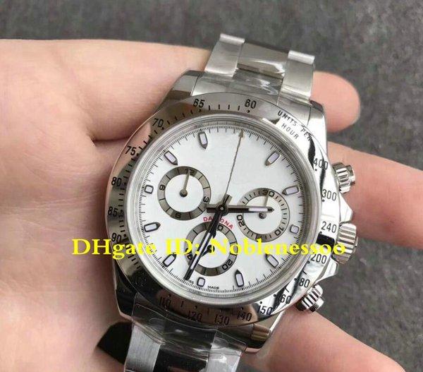 5 Stil CAL.4130 Uhrwerk Classic 116520 Stahl Weißes Zifferblatt 40mm Chronograph Arbeiten 116500LN 116500 Automatische Herrenuhren