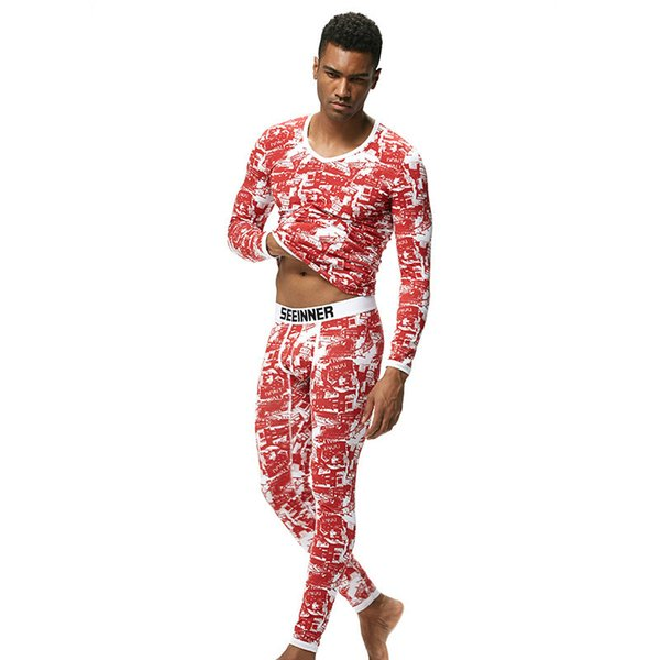 2018 Fashion Men Warm Winter Long Tee Sleeve Long Johns Cotton Tight Body Sexy Fit Underwear Basic Tops T-Shirt Thick Undershirt