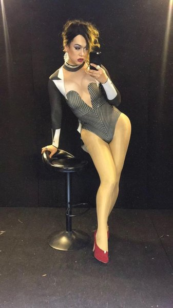 Ds Sexy Black Stage Bodysuit Teacher Tuxedo Costume Bling Rhinestones Leotardo Outfit Party Celebrate Wear Cantante Performance