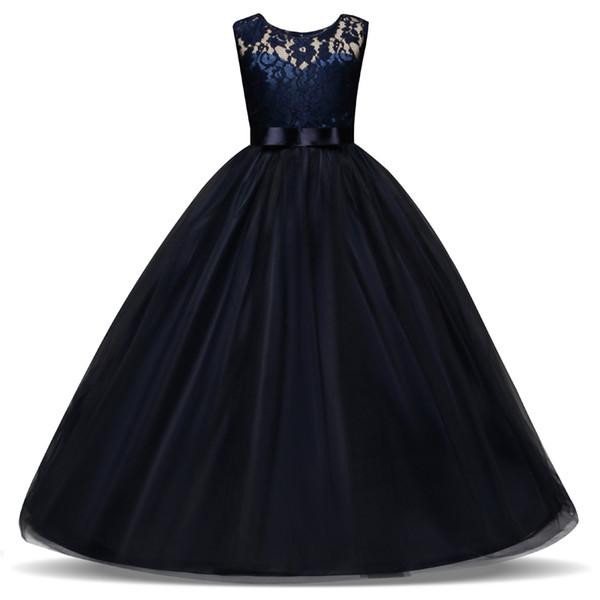 5-14 Jahre Kinder Kleid für Mädchen Hochzeit Tüll Spitze Langes Mädchen Kleid Elegante Prinzessin Party Pageant Formale Kleid für Teenager Kinder