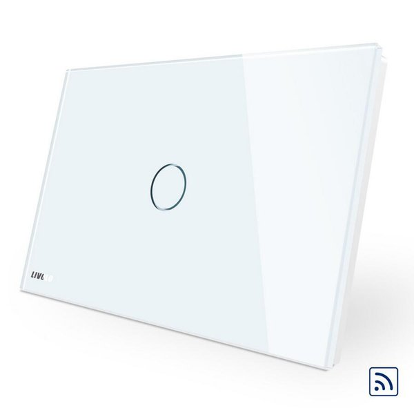 High Quality Ivory White Crystal Glass Panel, VL-C901R-11,110~250V AU/US Standard Wireless Remote Home Wall Light Switch