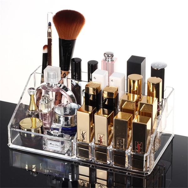 Acryl Aufbewahrungsbox Schmuckbehälter Makeup Organizer Fall Lippenstift Halter Cosmetic Organizer Für Kosmetik Lagerung