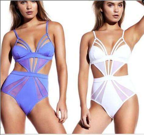 Purple White Sheer Mesh Splicing Sexy One Piece Swimsuit for Women Swimwear Female Bathing Suit Swim Backless Monokini