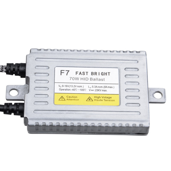 1Pc Fast Bright F7 70W DLT HID Ballast Quick Start Digital Xenon Ignition Block for 9-16V Vehicle Car Retrofit Headlight Bulb