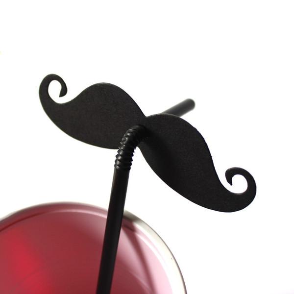 Barba de rayas negro y rojo labios etiqueta pajitas de papel para el banquete de boda fuentes festivas decoración pajas de beber de papel