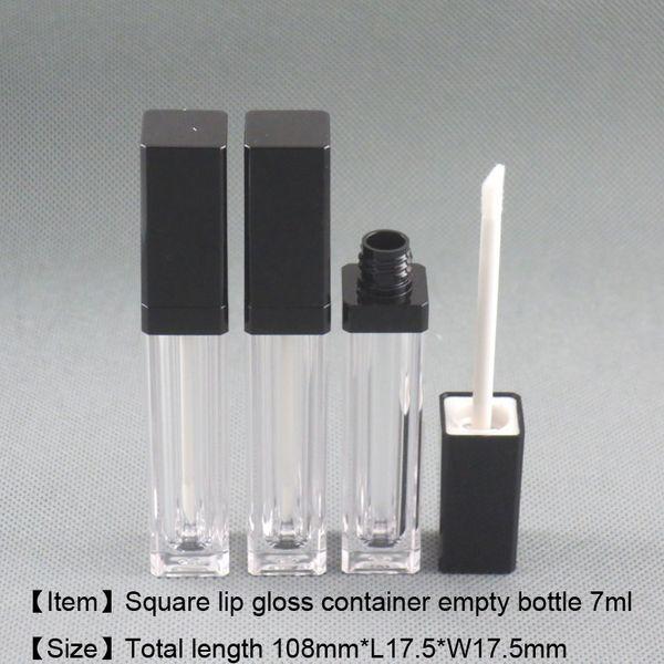 7ml Square shape lip gloss container lip care gel bottle cosmetic lip gloss oil dispenser empty pakcage Free shipping moq 250pcs