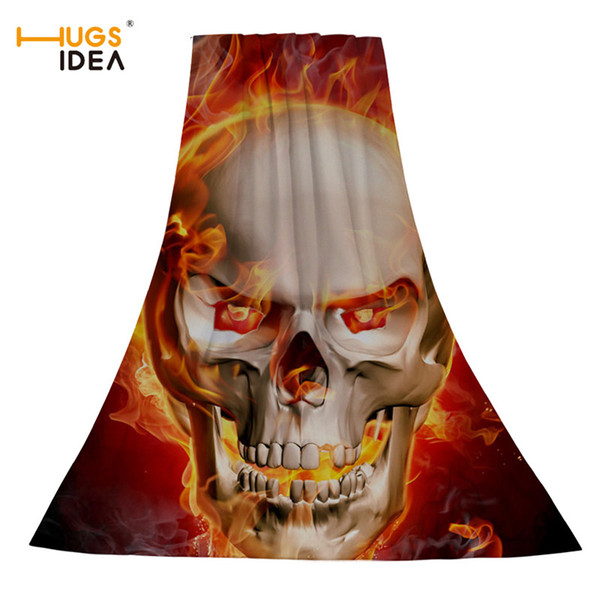 wholesale Cool Women/Men Beach Towel Punk Skull 3D Printed Soft Bath/Spa/Swimming Towels Home Textile Large Thick Travel Toalla