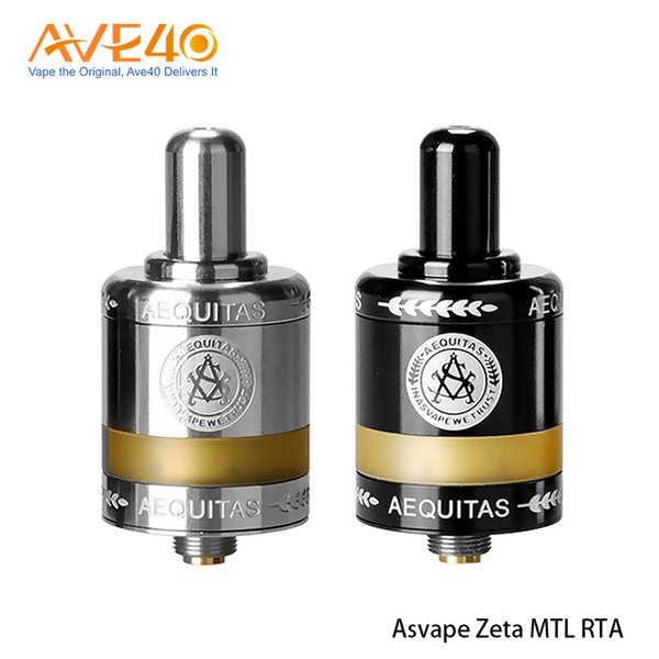 Asvape Zeta MTL RTA Tank Atomizer 2.5ml With Ceramic Build Deck & Updated Airflow Control System 100% Original