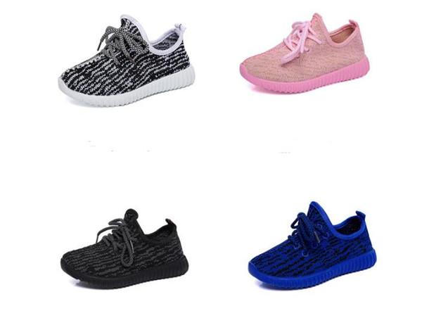 Abd boyutu Çocuk ayakkabıları İlkbahar Sonbahar Erkek bebek kız tuval çocuk ayakkabı rahat ayakkabı ile çocuklar düz çocuk kaymaz moda sneakers boyutu