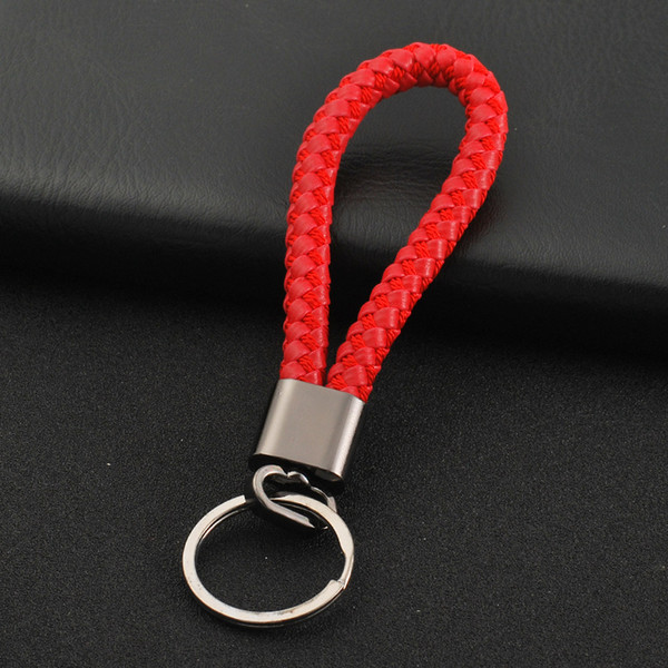 2018 manufacturers direct sale two generation braided leather cord key chain male chicken eat chicken game key chain accessories small gift