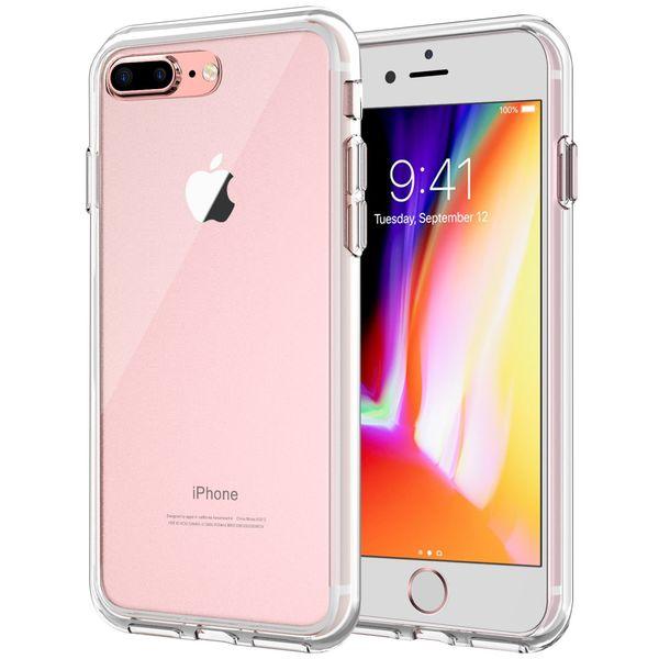 0ac8abd2386 Caja del teléfono transparente a prueba de choques para iPhone X 8 7 6 6S  Plus