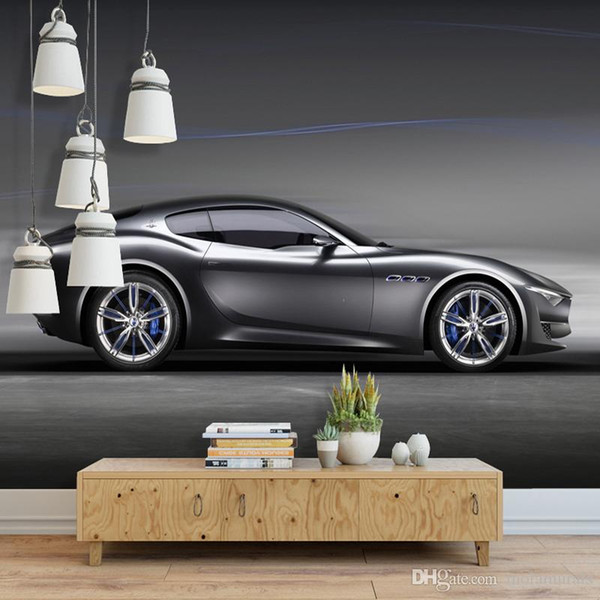 Custom Photo Wallpaper 3D Brick Wall Murals Car Black Robot Broken Wall Wallpaper For Kids Room KTV Bar Cafe Background Decor