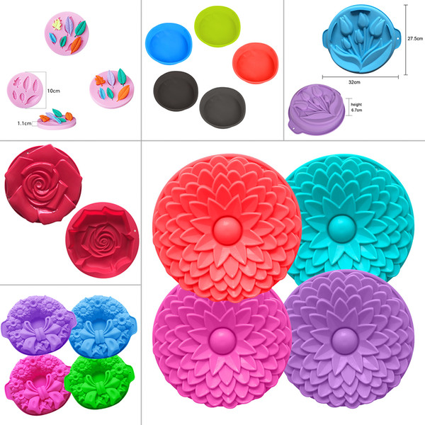 Baking Pan 1PC Silicone Fondant Cake Mold Chocolate Soap Mould Cake Stencils Kitchen Accessories Pastry Cooking Tools