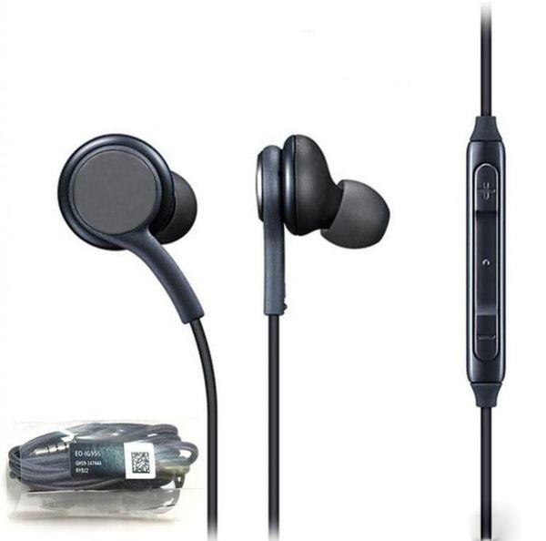 S8 Headphones Headset For Samsung Galaxy S8 Plus 3.5mm headphone Genuine Black In-Ear Earphones EO-IG955BSEGWW Power Bass Handsfree Earbuds
