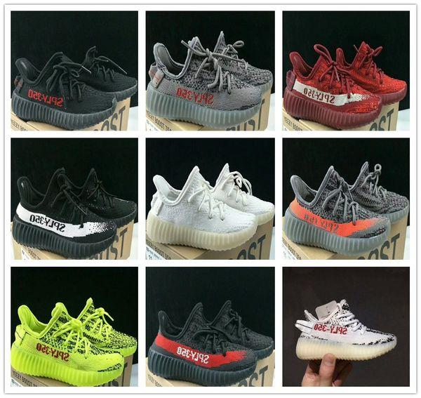 Compre Adidas Yeezy Supreme 350 2018 Niños Del Bebé Correr Zapatos Kanye West SPLY 350 V2 Correr Zapatos Niños Zapatos Deportivos Niños Niñas