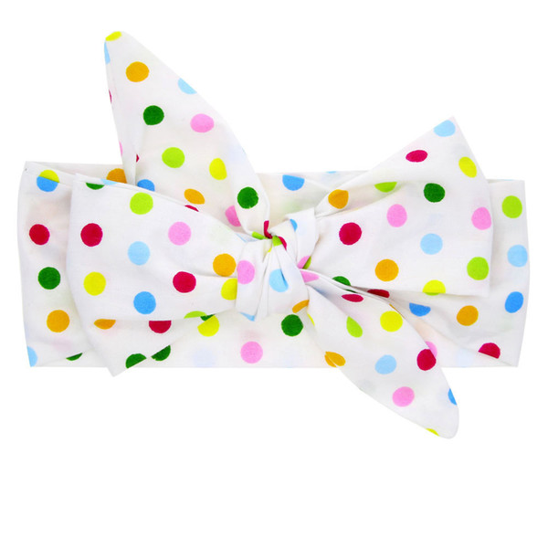 Baby Cute Rabbit Ears Elastic headbands Cloth Bowknot Headband newborn photography props hairband tiaras infantis