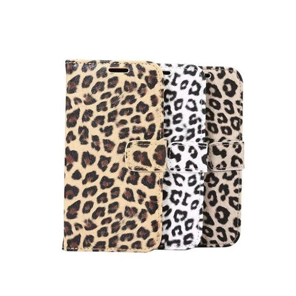 Sexy leopard print Leather Case For Samsung Galaxy S8 Wallet Flip stand Cover carcasas With Card Slot Mobile Phone Bags
