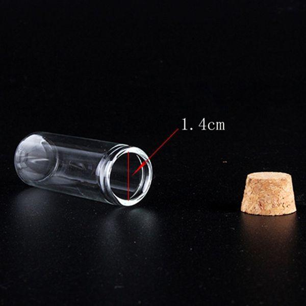 4 ML Glas Mini Flasche Box Pulver Nase Flasche Pill Box Container Wachs Herb Vape Spulen Speicher Shop Verpackung Holz Stecker mehrere Verwendungen