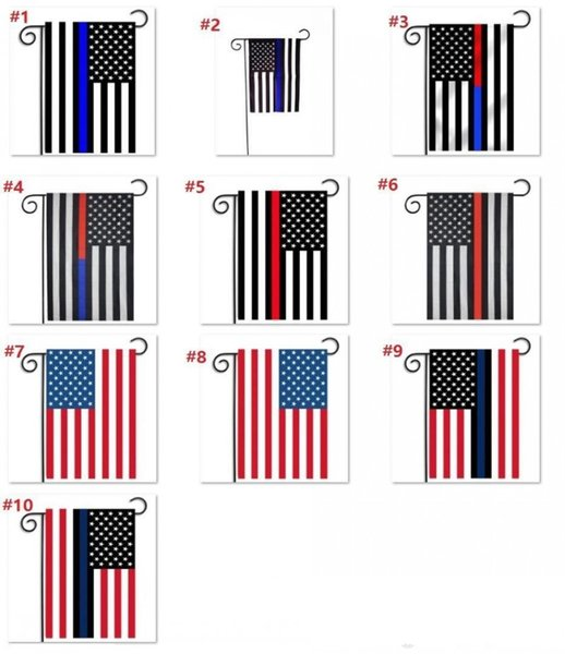 30*45cm BlueLine USA Police Flags party decoration Thin Blue Line USA Flag Black, White And Blue American Flag Garden flag