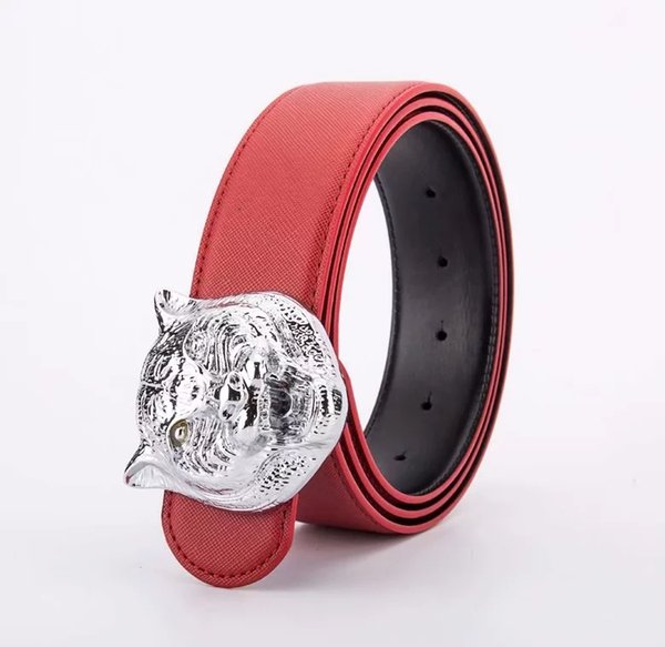 Red with silver buckle