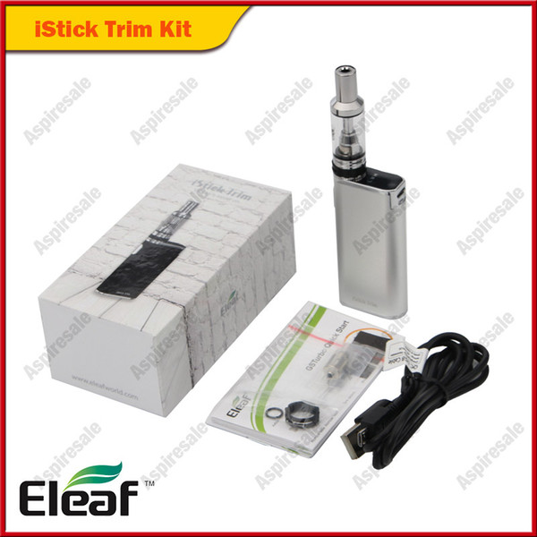 Authentic Eleaf Istick Trim Starter Kit with 1.8ml GS Turbo Atomizer Built In 1800mAh E Cigarette Vape Starter Kit 100% Original