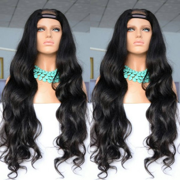 Human hair with baby hair 100% unprocessed remy virgin long natural color natural wave full lace wig for women