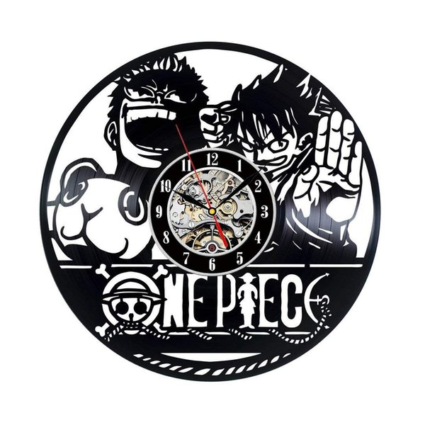 One Piece Cartoon Vintage Theme Decor Ultra Home Decorative Wall Mounted Clock For Family Room Art hanging For new design
