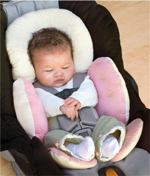 Cojín de bebé suave cojín de protección para el cuello infantil cojín de sujeción niños asiento de coche cojines de seguridad 4 colores