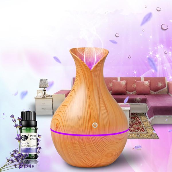 Difusor del USB 130ml Difusor del aceite esencial del aroma Humidificador ultrasónico de la niebla fresca Cambio de 7 colores LED luz de la noche