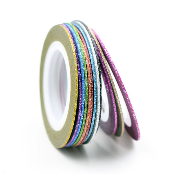 12 Colors Choice Matte Color Rolls 1mm Striping Tape Line Rough Styles Nail Art Tips Decals Beauty Decorations Nail Accessories