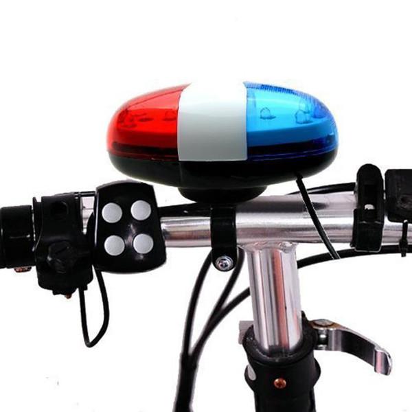 6 LED 4 suoni corno campanello auto luce tromba per bici da bicicletta