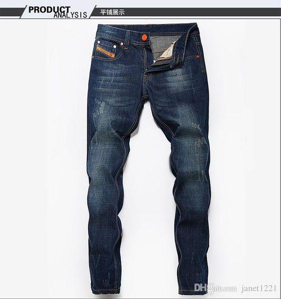 Men Pants Distressed Ripped Jeans Fashion Designer Straight Motorcycle Biker Jeans Causal Denim Pants Streetwear Style Mens Jeans J180306