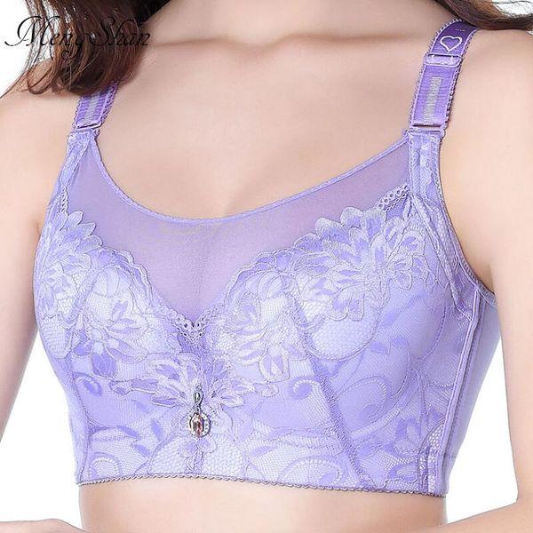 Bras For Women Adjusted-straps Underwire Bra Sexy Women Underwear Lace Bralette Lingerie Top Large Size C D E DD Cup Big Size