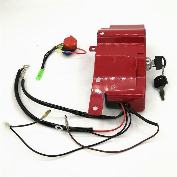Llave de la caja del interruptor de encendido y apagado para HONDA GX390 GX340 5KW 6.5KW 11HP 13HP Motor de gasolina Gasoline Generator Parts