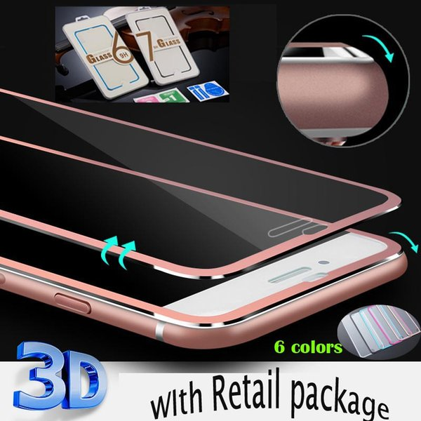 3D Curved Screen Protector Film for iPhone x 7/8 6 plus Tempered Glass Full Cover Titanium Edge Film Full Coverage