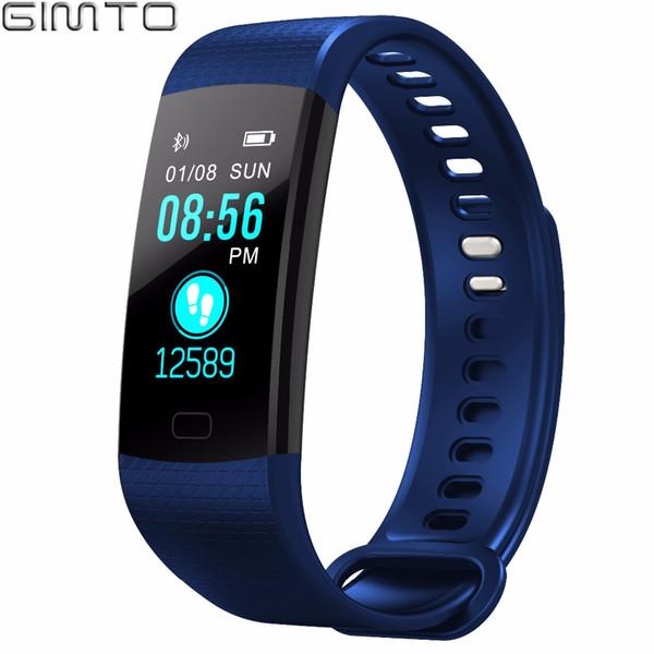 X GIMTO Sport Bracelet Smart Watch Men Women Clock Heart Rate Monitor bluetooth LED Digital Waterproof Smartwatch for IOS Android