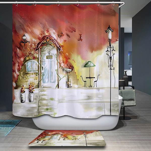 Großhandel Polyester Wasserdichte Kunst Malerei Duschvorhang 12 Haken  Cartoon Elefant Badezimmer Dekor Mildewproof Bad Vorhänge Von Hariold,  $24.78 ...