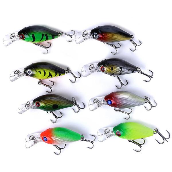 5cm 8pcs Rock Bait Bionic Mini Fishing Lure Lures 3d Eyes Bait Crankbait lure Wobblers Tackle Isca Poper Japan Hard ABS Popper Bait
