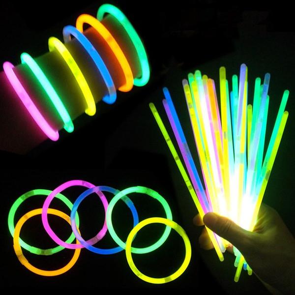 7.8 '' Multicolor Color Hot Glow Stick Pulsera Collares Fiesta de neón LED Luz intermitente Stick Wand Novedad Toy LED Vocal Concert LED Flash Sticks