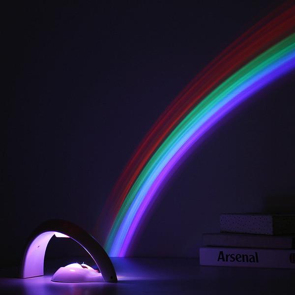 Nuovo LED della novità dell'arcobaleno della lampada del proiettore dell'arcobaleno della luce La seconda generazione di LED dell'arcobaleno lampada del proiettore di luce di notte del LED