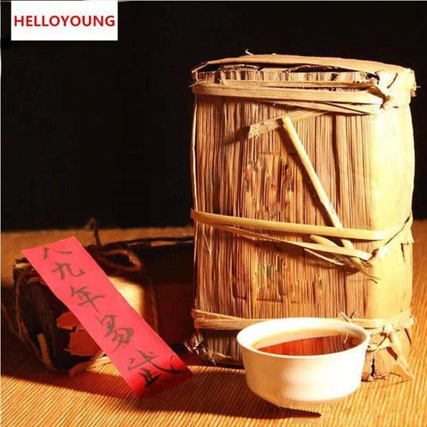 Preferencia 1000g Yunnan Yiwu madura Puer Orgánica de ladrillo cocido Negro Natural Embalaje Puer Té Verde de Alimentos hoja de bambú