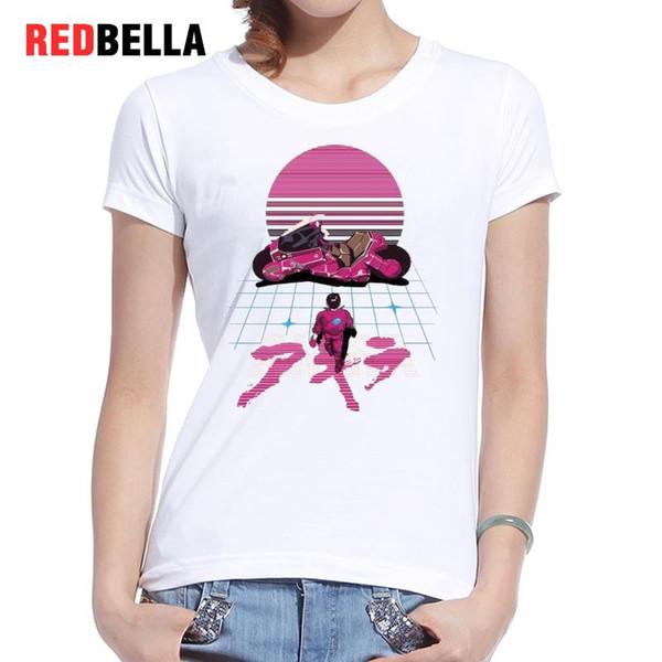 Women's Tee Redbella T Shirt Women Punk Japanese Style Comics Pink Rock Characters Funny T-shirt Rock Ulzzang White Tops Plus Size Clothing