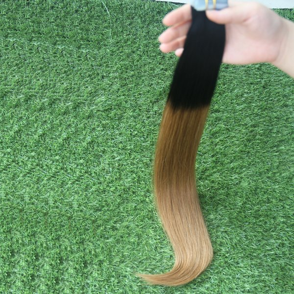 1B/6 tape in human hair extensions 100g Straight Tape Apply Ombre Tape Hair Extensions 40pcs Skin Weft Hair Extensions Ombre