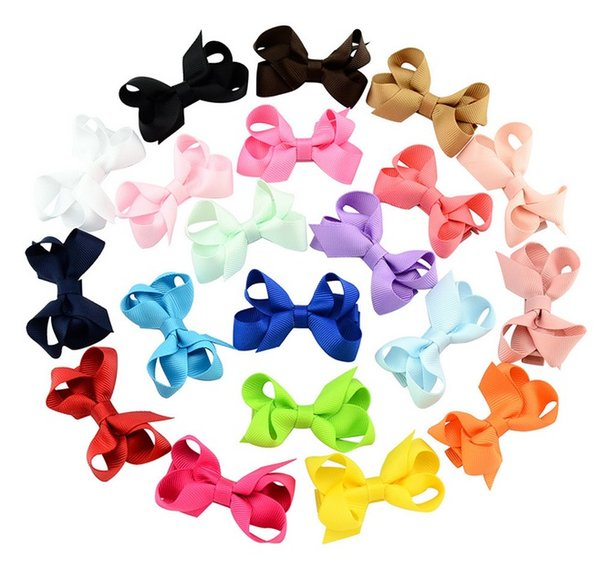 top popular 2.4 Inch Fashion Mix Color Headbands Children Hair bow boutique Popular Baby Girls Hair Clip Kids Hair Accessories Hairpin 645 2020