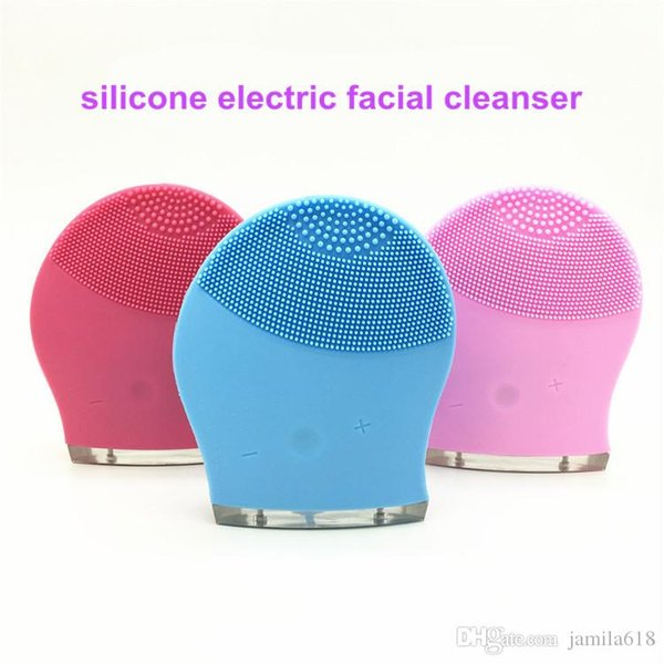 Waterproof Silicone Facial Cleansing Brush Face deep cleaning Electric Facial Pore Cleaner Skin Care Massager Blackhead Remover Wash Tool